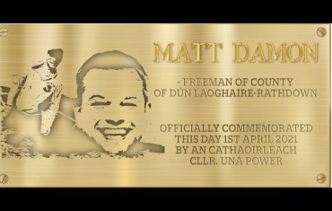 Matt Damon Plaque