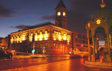 County Hall at night